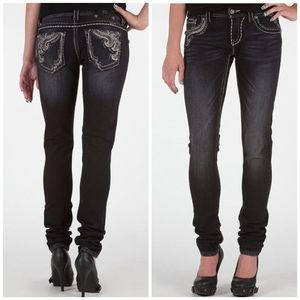 Miss Me Short Black Skinny Jeans